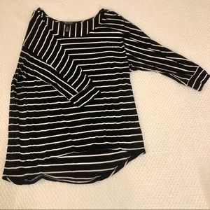 White House Black Market | French striped blouse